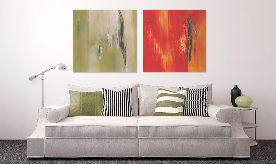"""Raumbild der Serie """"Farbenergie"""" von Renate Moser :: moser-art"""