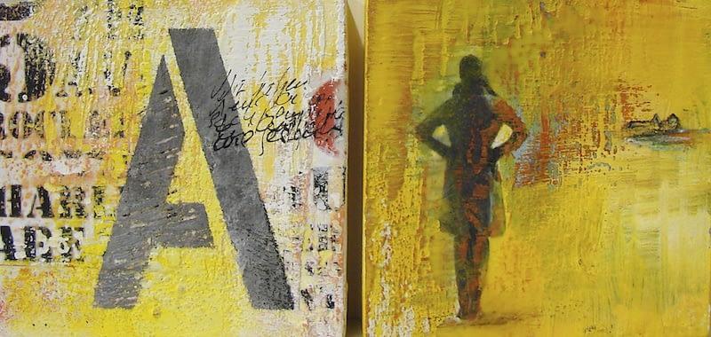 """""""A wie Anfang"""" Doppelbild von Renate Moser :: moser-art"""