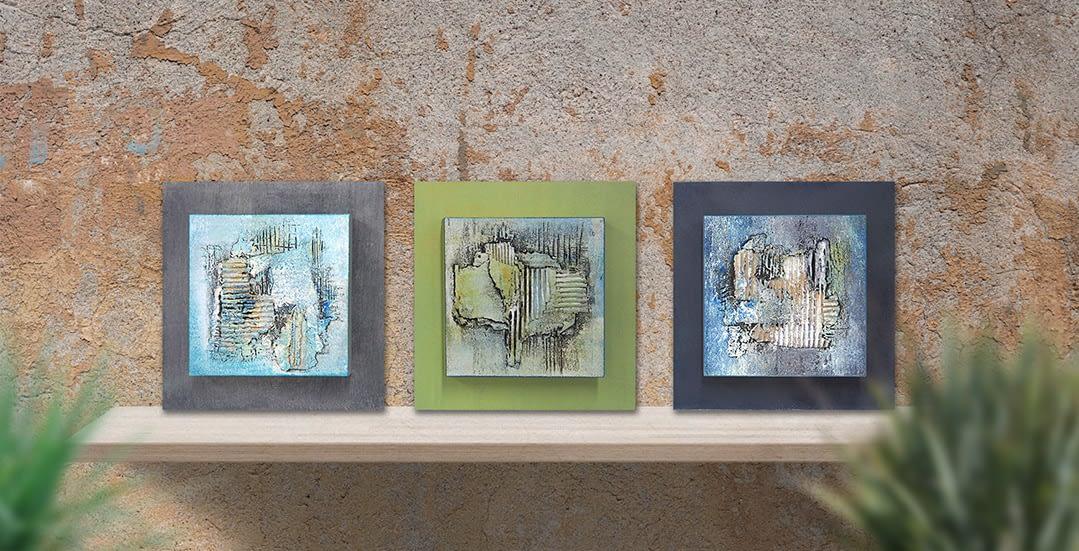 """3 Bilder aus der Serie """"Spachteltechnik"""" von Renate Moser :: moser-art"""