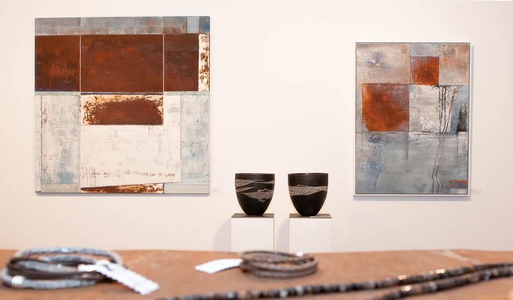 Art Feldmatte 2017   Bilder Renate Moser   Keramik Marianne Maurer
