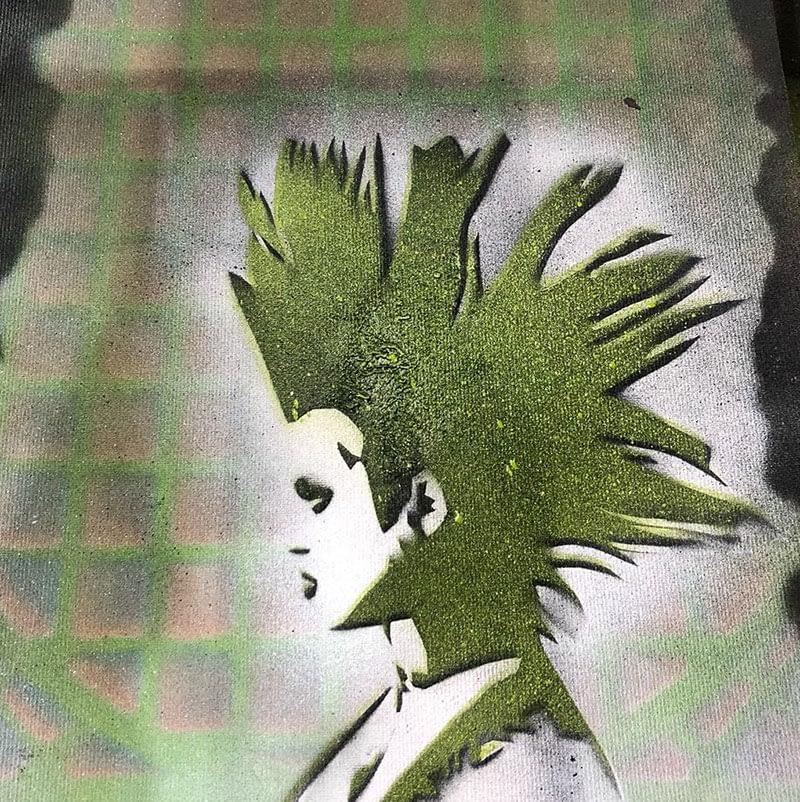Schablone «Punk» aus dem Graffiti-Workshop 18. & 19. Mai 2019   moser-art