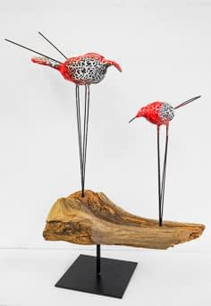 Malkurse moser-art | Objekt «Vogelpaar» aus dem Sommerkurs 2019
