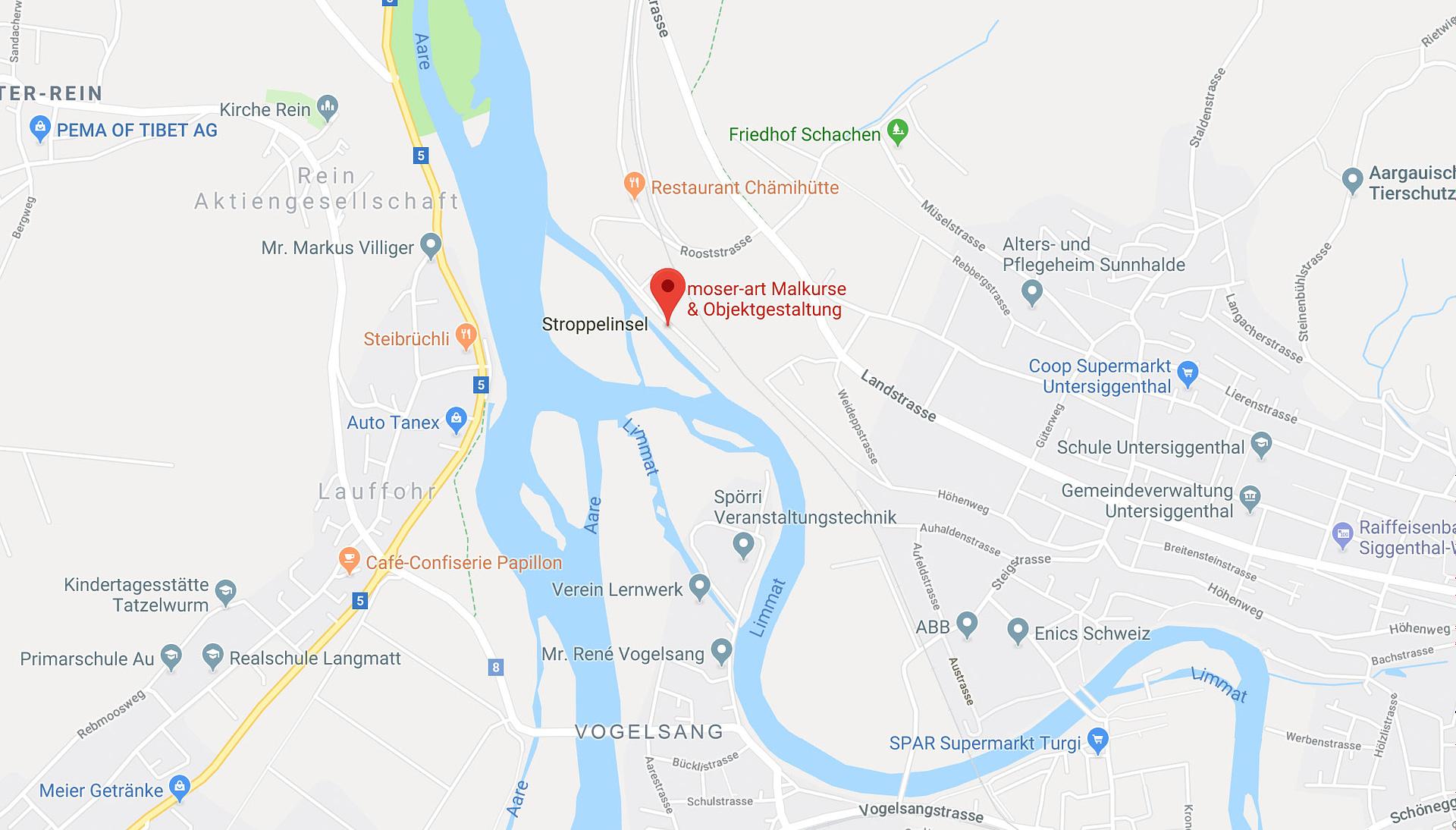 Hier finden Sie moser-art auf der Google-Map